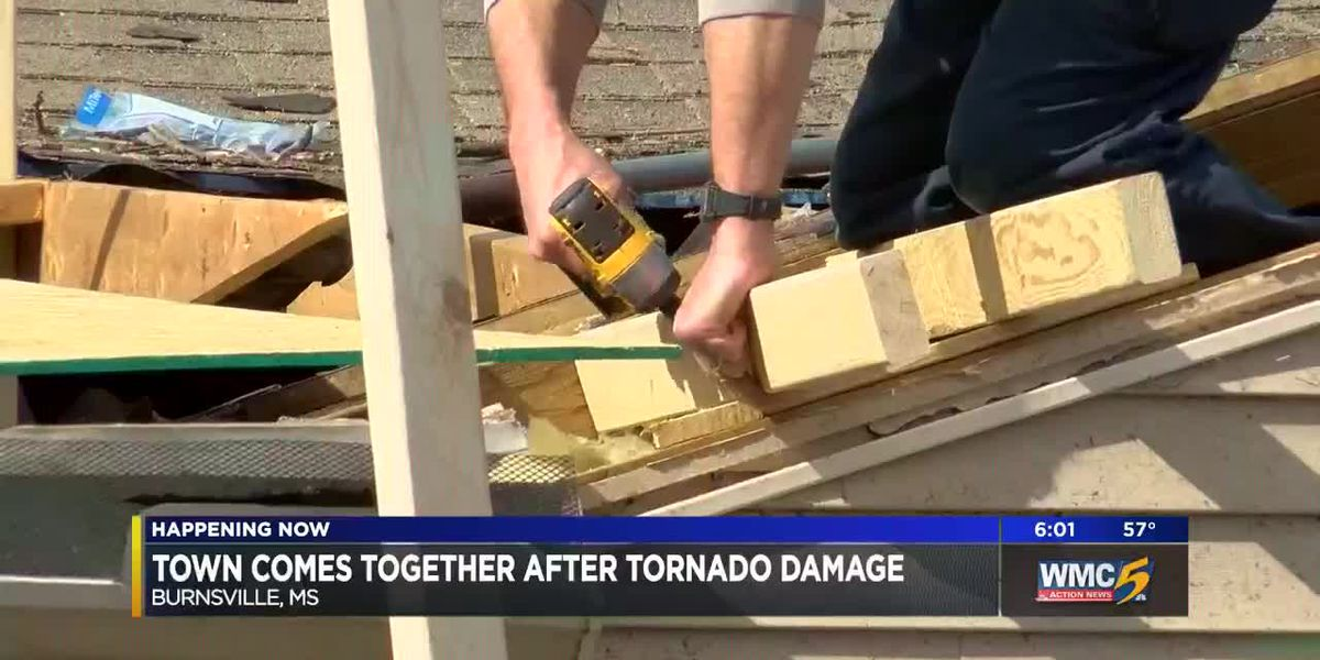 Mississippi town comes together after tornado tears through homes