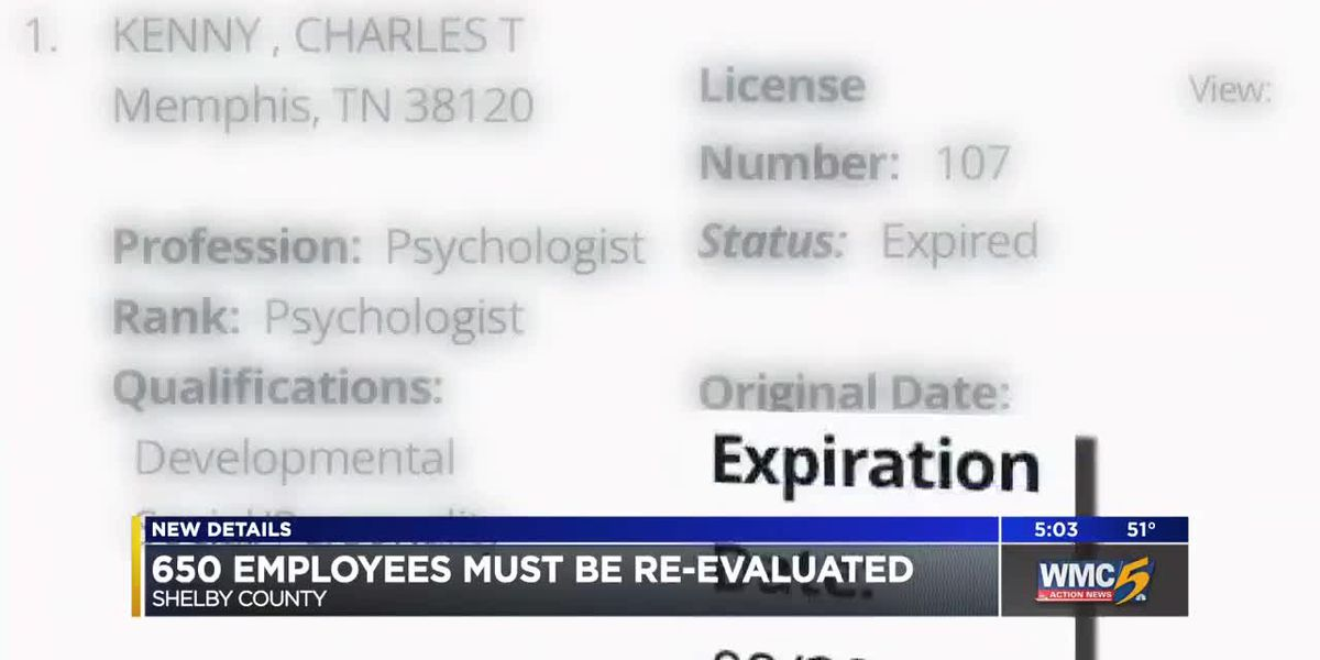 Officials say more than 600 Shelby County employees must be re-evaluated