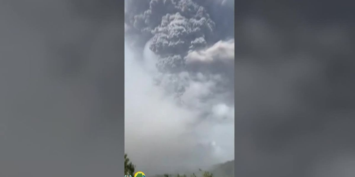 St. Vincent volcano blankets island with ash