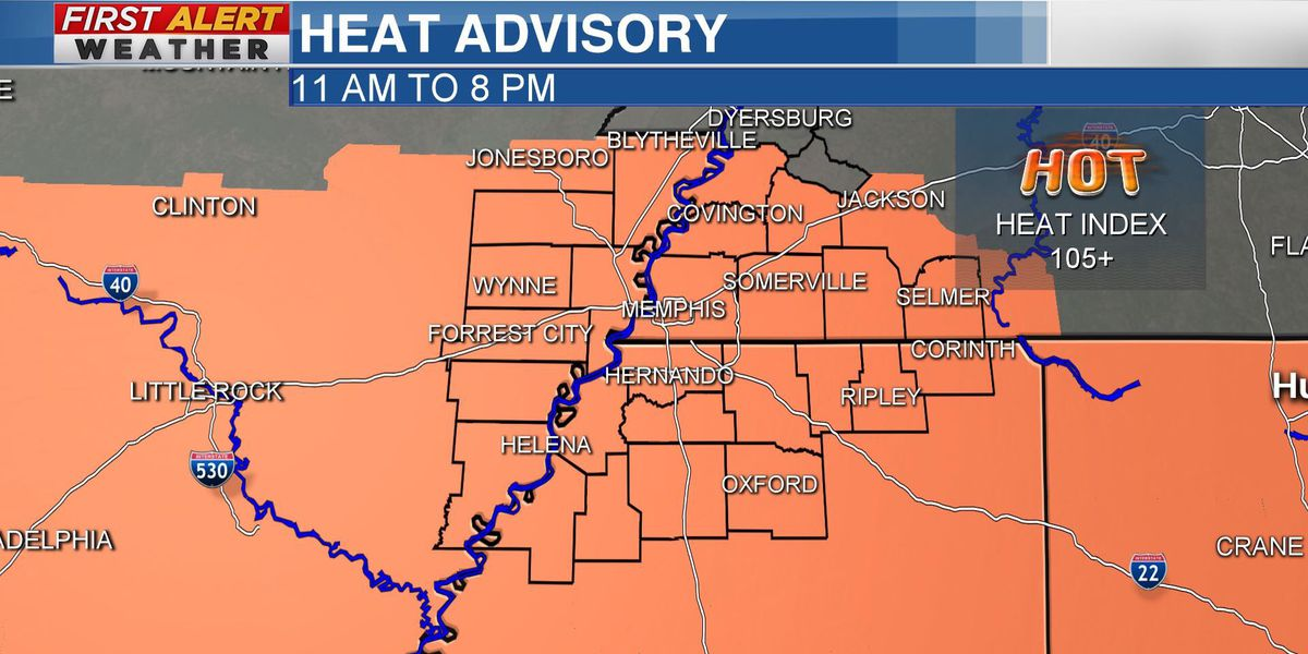 Heat advisory in effect across Mid-South Tuesday