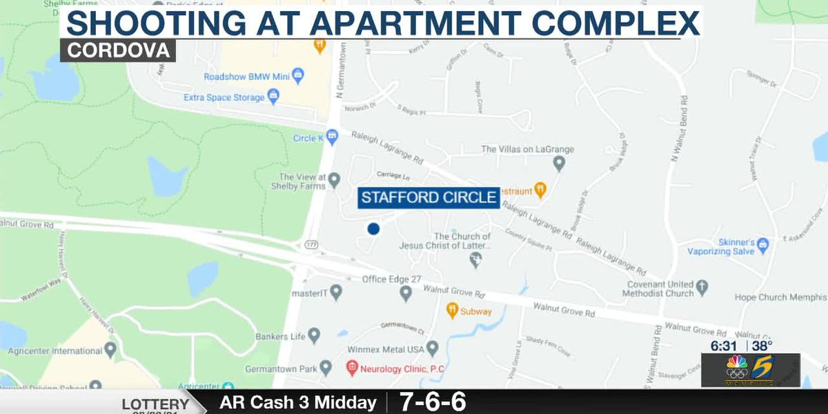 1 injured after shooting at Cordova apartment complex near Shelby Farms