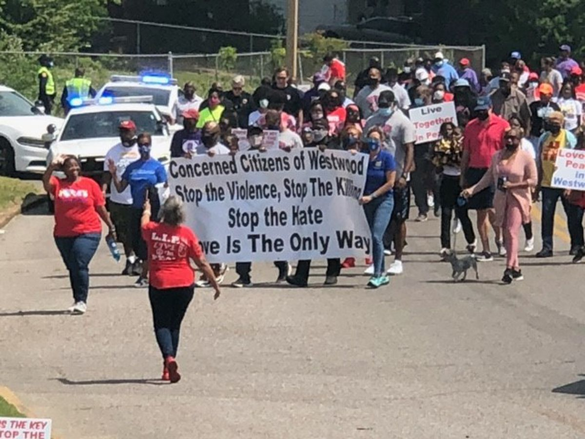 Westwood community unite against gun violence in Memphis