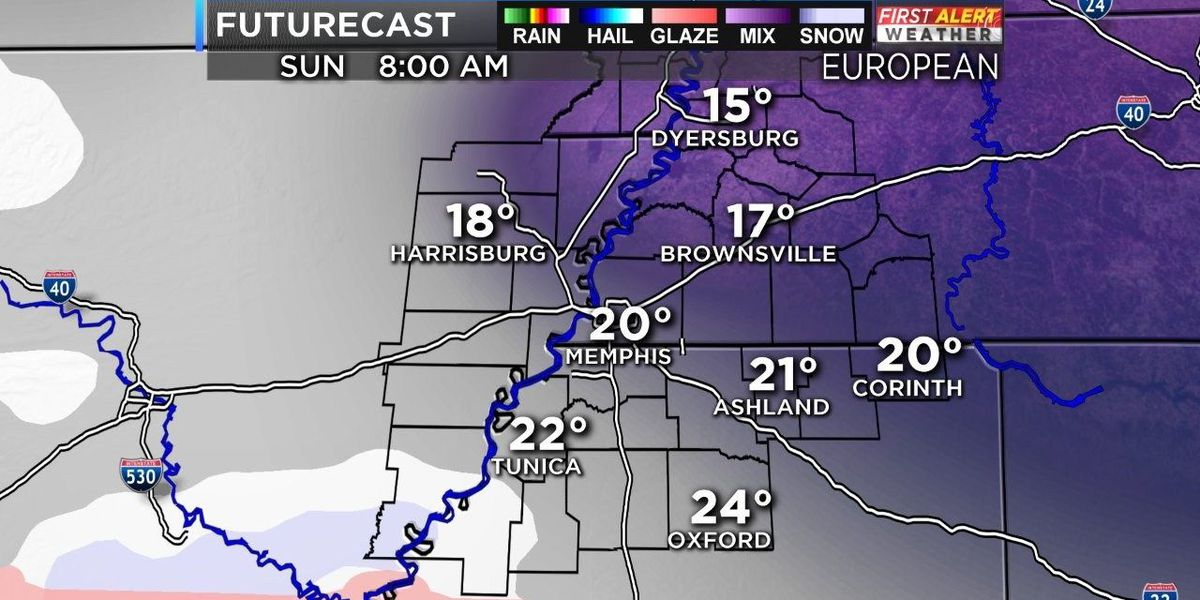 Latest weather models downplay snow chance for Sunday