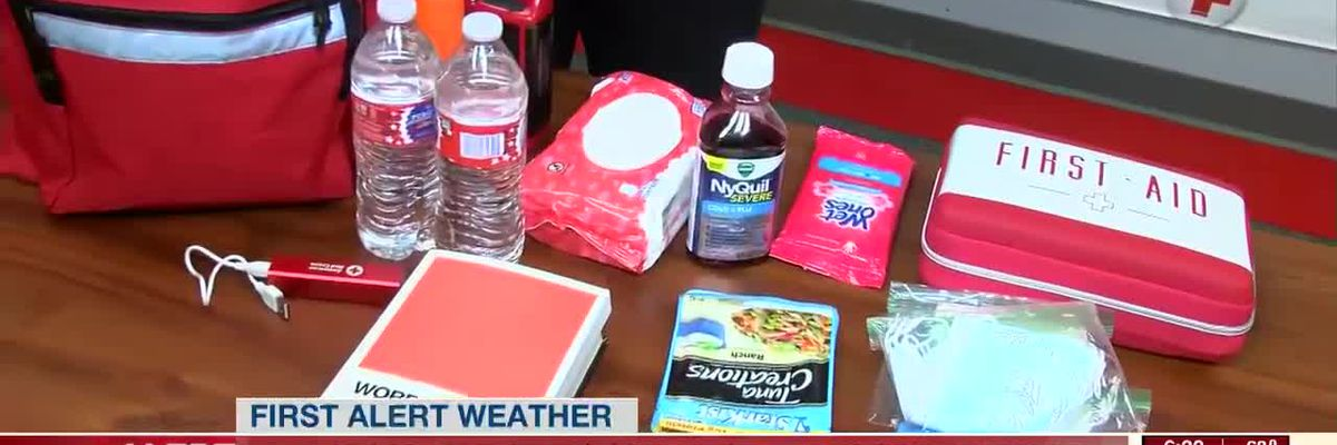 Red cross volunteers on standby for storm