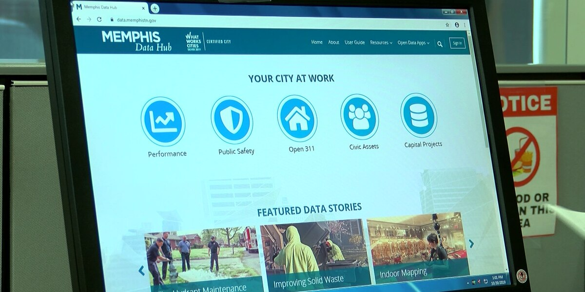 Memphis launches online data hub to help public track city services