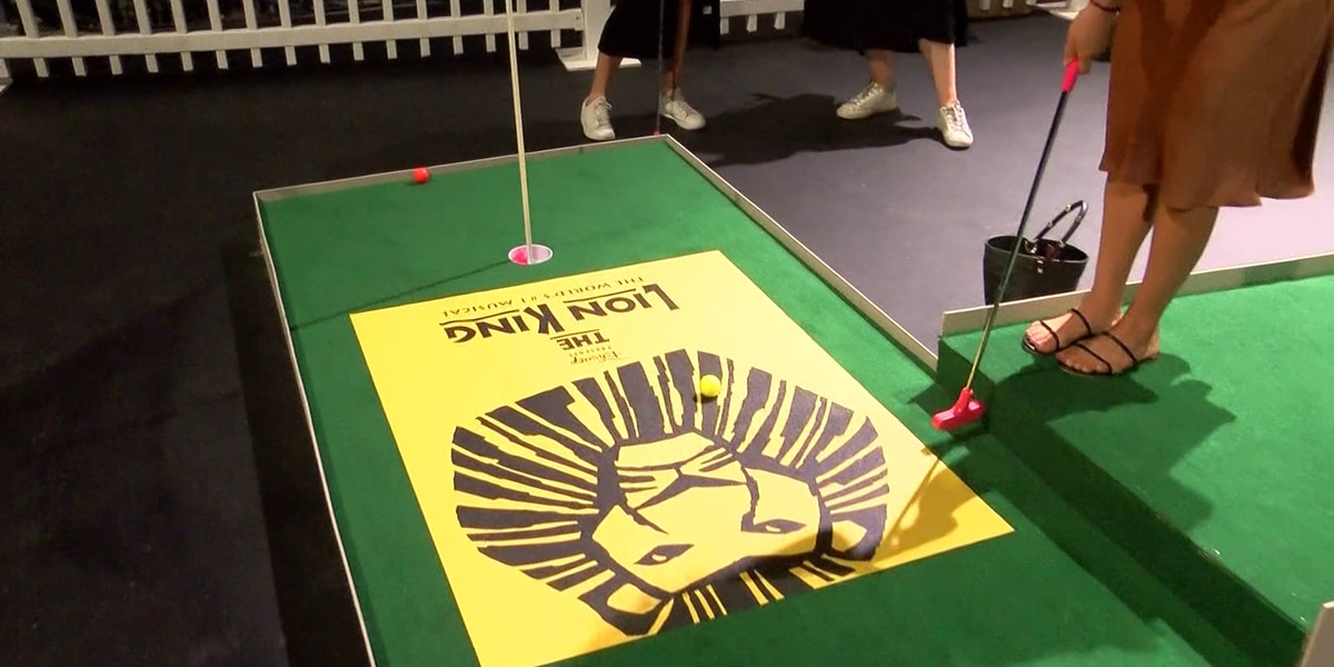 Mini-golf taking center stage at Orpheum Theatre
