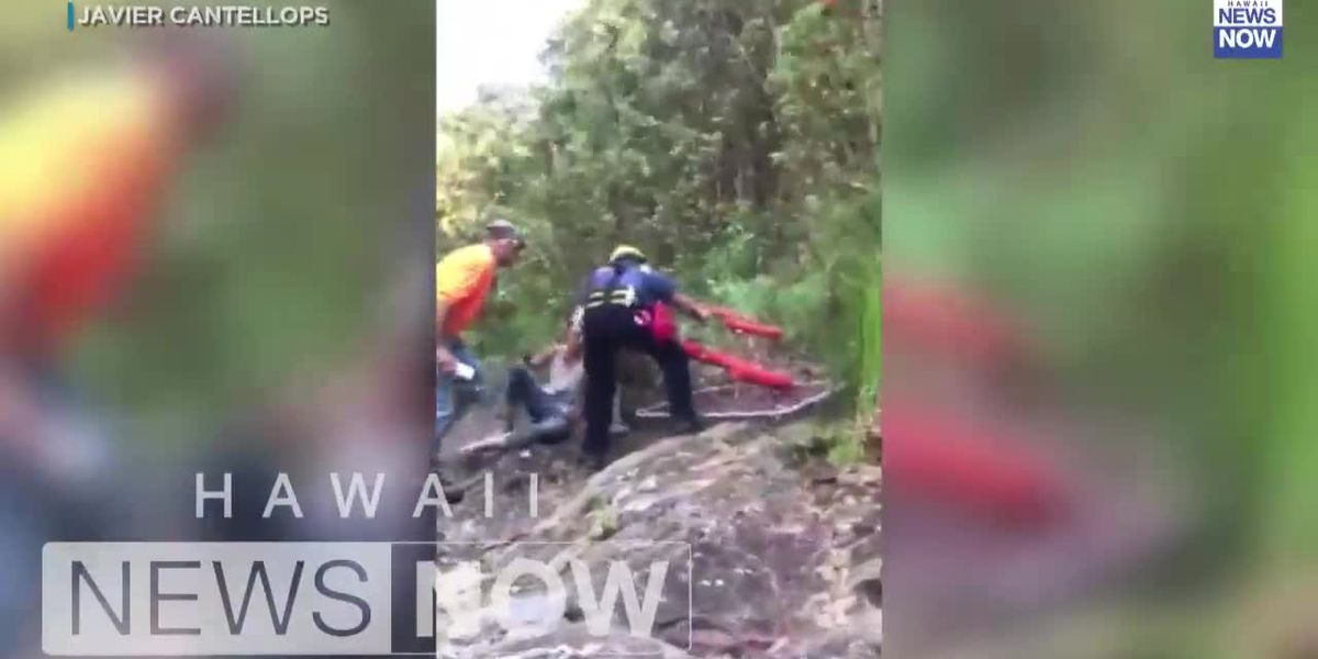 The dramatic moment missing Maui hiker Amanda Eller was airlifted to safety