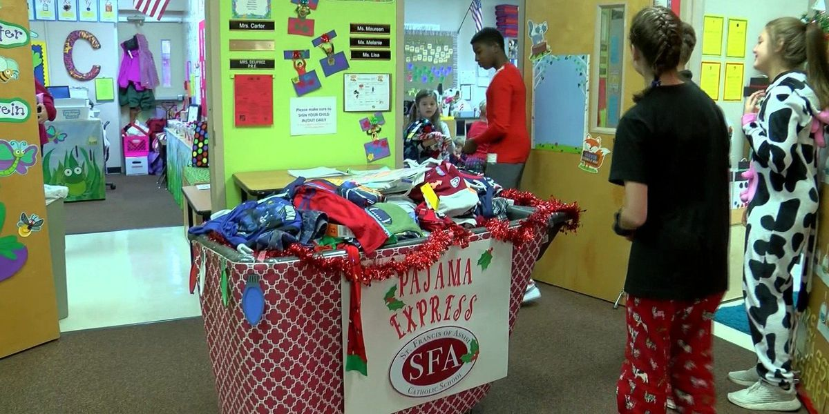 Students donate pajamas to less fortunate