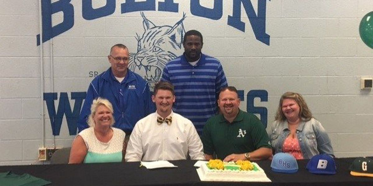 Bolton High School baseball player signs with college