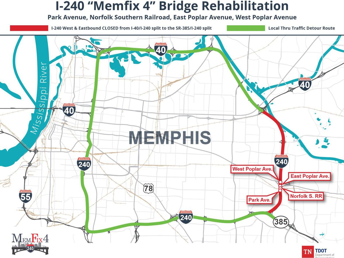 Another phase of MemFix set to close I-240 this weekend