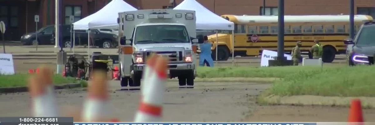 Dozens get tested at free one-day testing site in Miss.