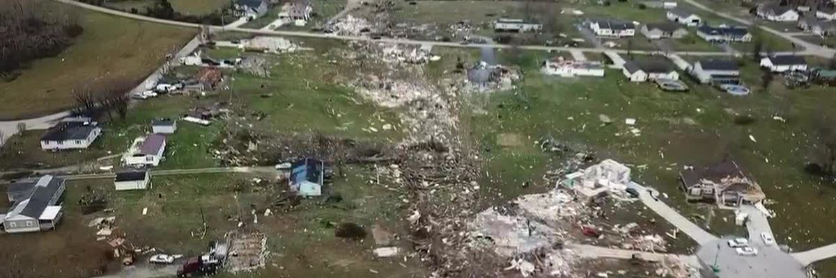 Drone footage shows path of destruction after Putnam County tornado (WVLT)