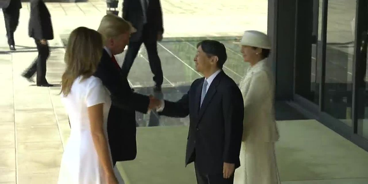 Trump meets new Japanese emperor