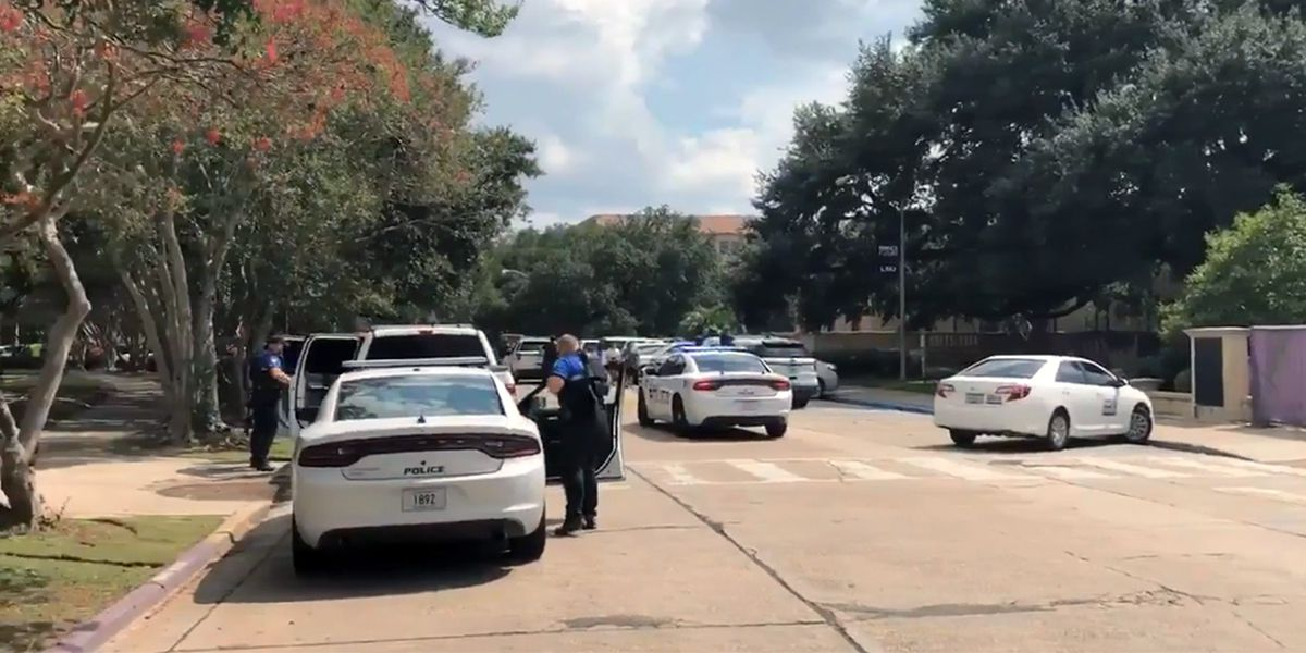 Officer in plain clothes with gun on belt likely sparked armed intruder call at LSU; all clear given