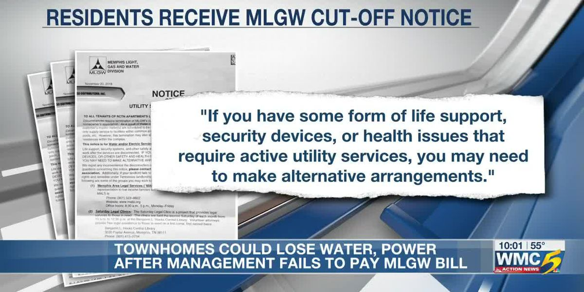 MLGW to cut water and electricity to apartment complex