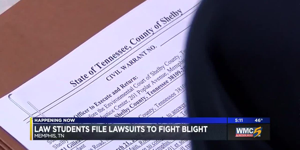 Law students file lawsuits to fight blight