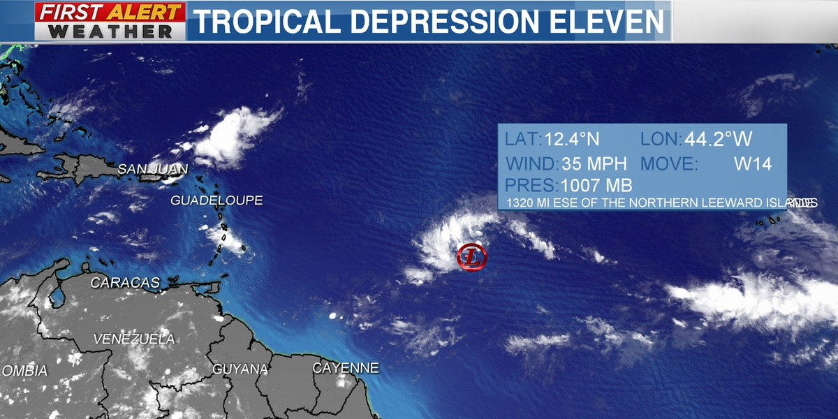 Tracking Tropical Depression #11 could become TS Josephine soon