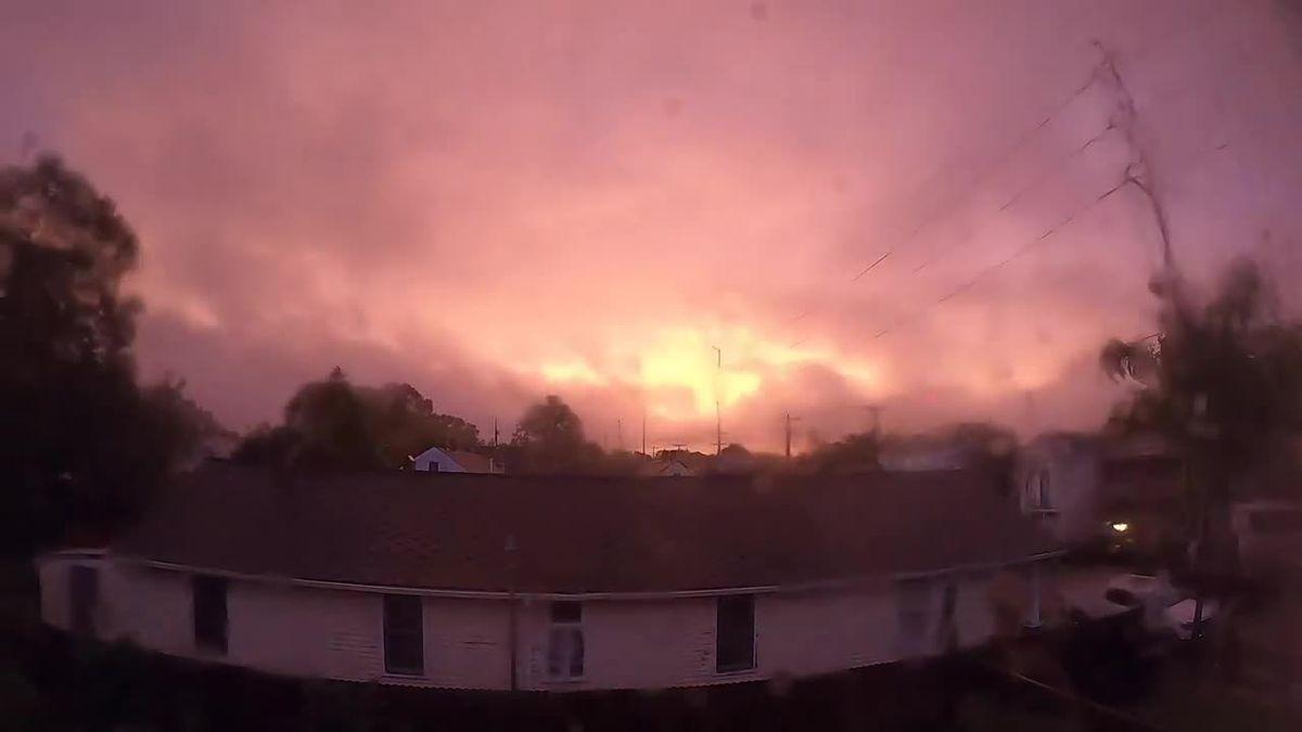 WATCH: Timelapse captures eerily calm eye of Zeta moving over NOLA