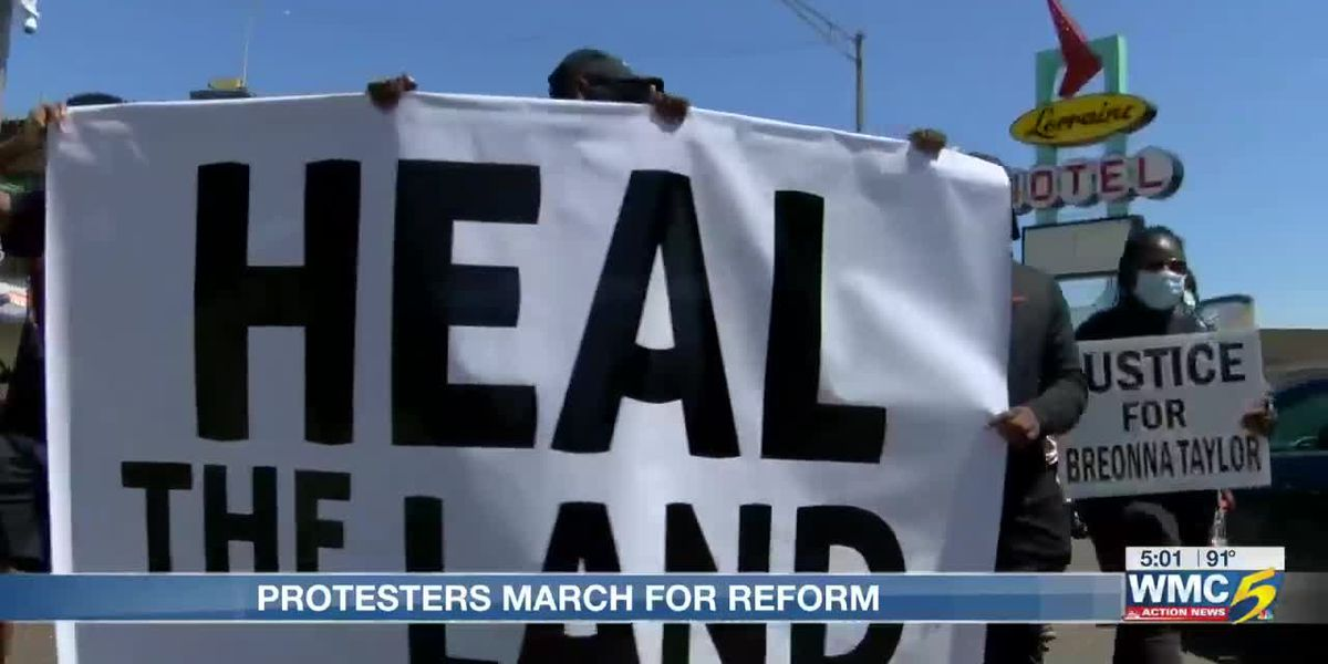 Protesters push for change in 'Heal our Land' march