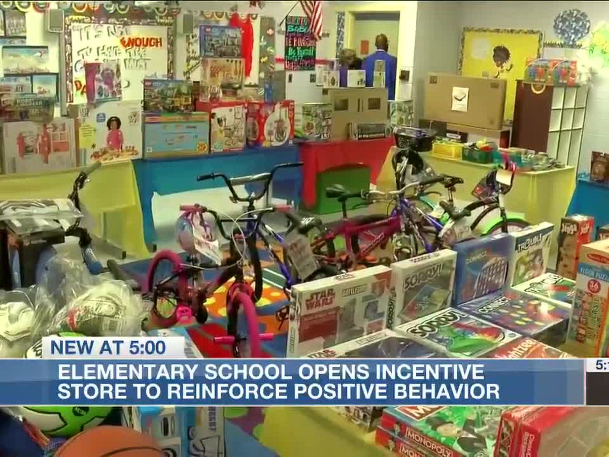 Elementary school opens store to reinforce positive behavior