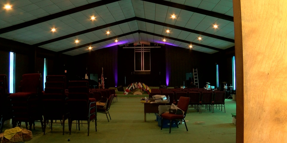 Church holds first service since vandalism