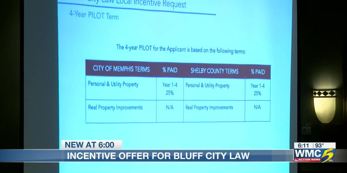 Incentive offer for Bluff City Law