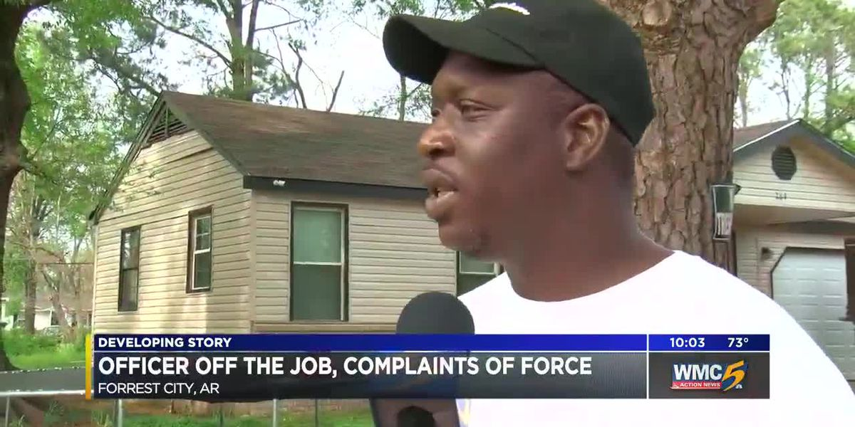 AR officer suspended over video showing him using excessive force on resident