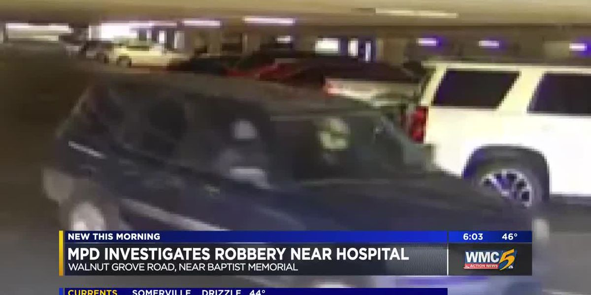 Surveillance video captures robbery suspects near hospital