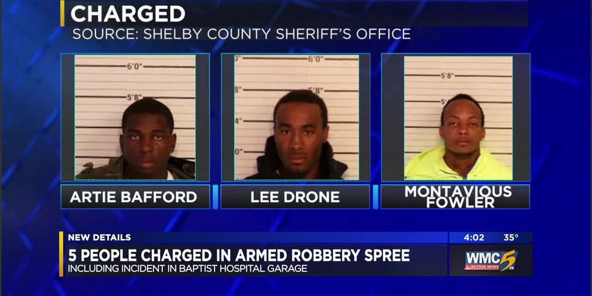 Artie Bafford, Lee Drone, Montavious Fowler -- 5 people arrested for series of armed robberies