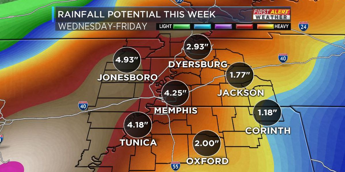 Watch out for flooding in the Mid-South