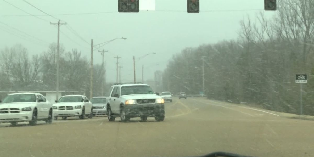 Parts of Memphis enjoy first flurries of 2015
