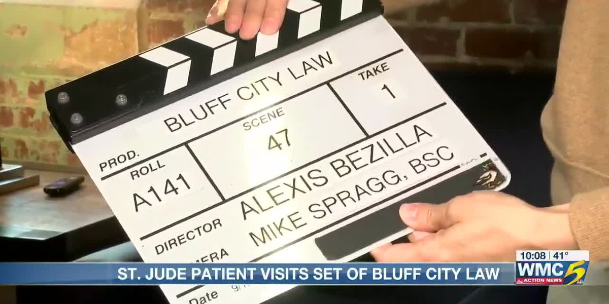 St. Jude patient gets final wish, visits set of 'Bluff City Law'