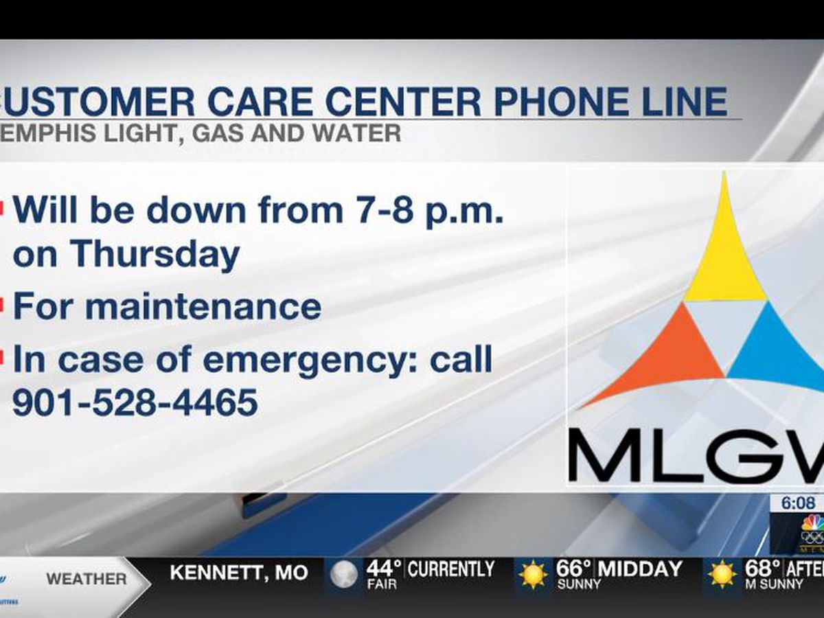 MLGW Customer Care Center to shut down for maintenance