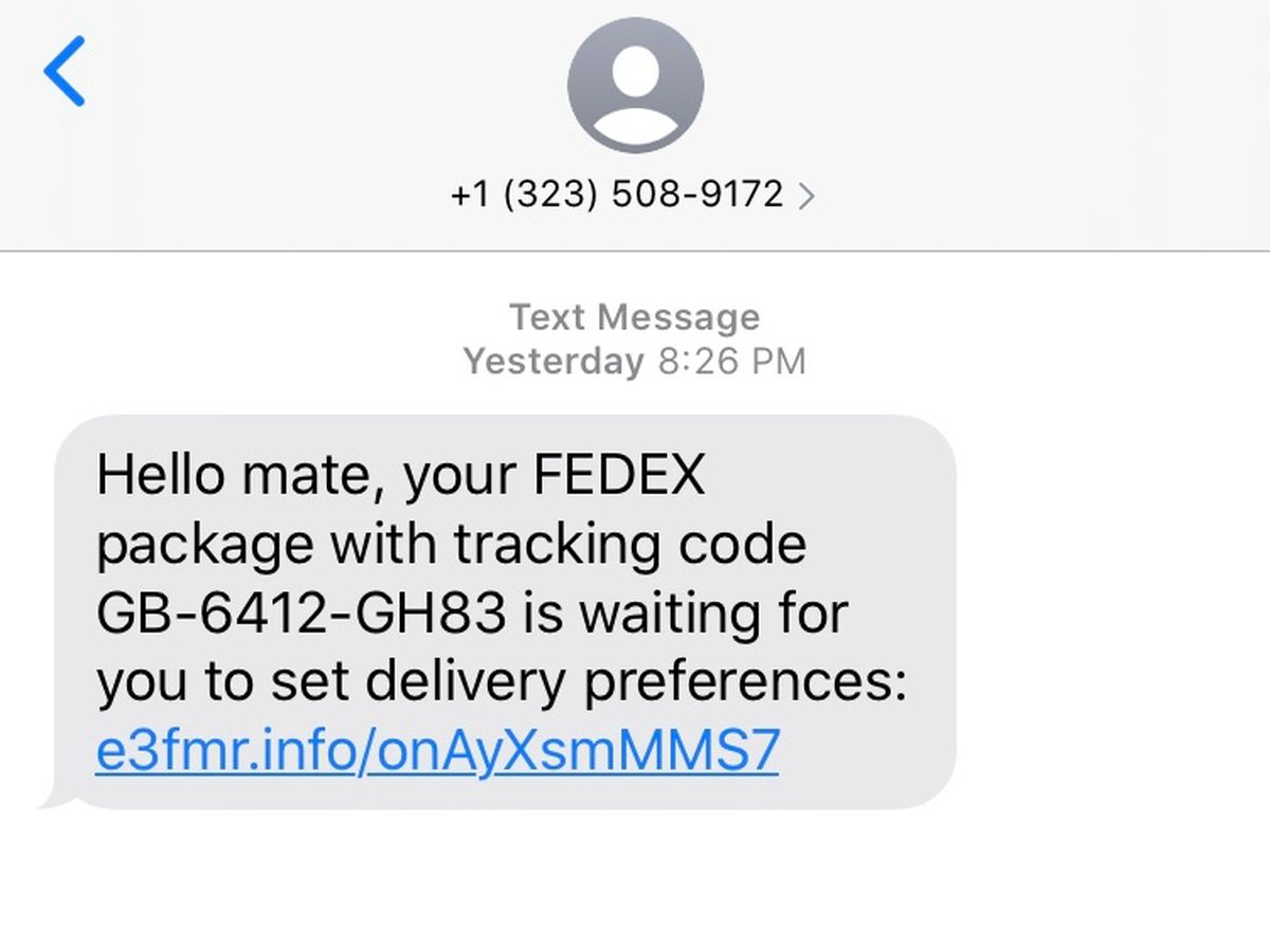 FedEx is warning customers about a text, email scam