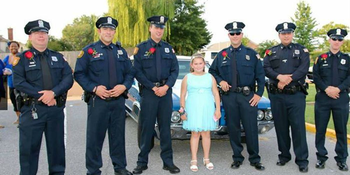 Fallen officer's daughter escorted to father-daughter dance by MPD