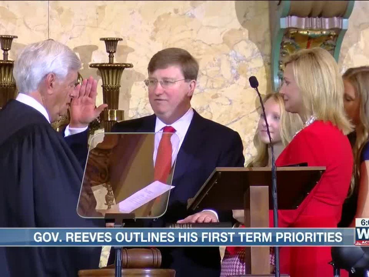 Tate Reeves inaugurated as 65th Governor of Mississippi