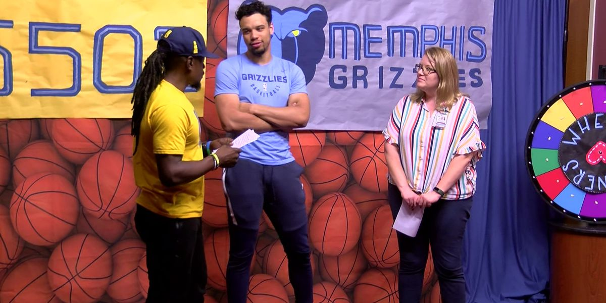 Grizzlies' Dillon Brooks visits Le Bonheur patients