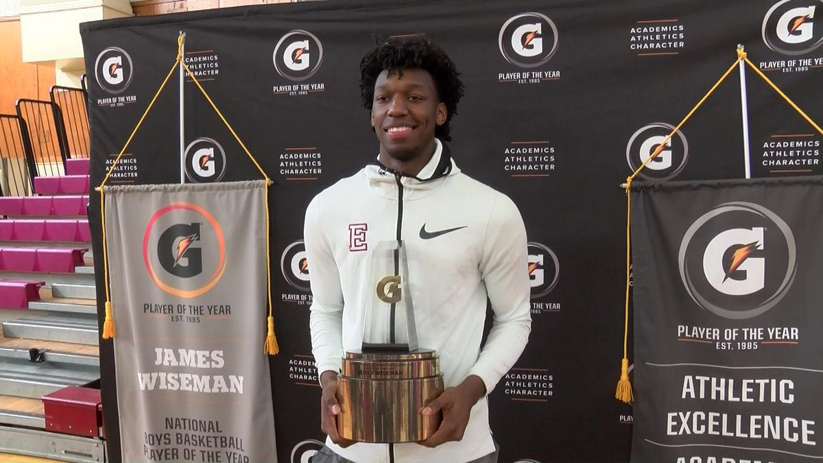 East High's James Wiseman named Gatorade National Player of the Year