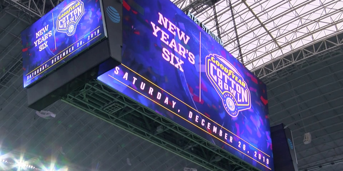 Preparations underway at AT&T Stadium for 84th Goodyear Cotton Bowl Classic