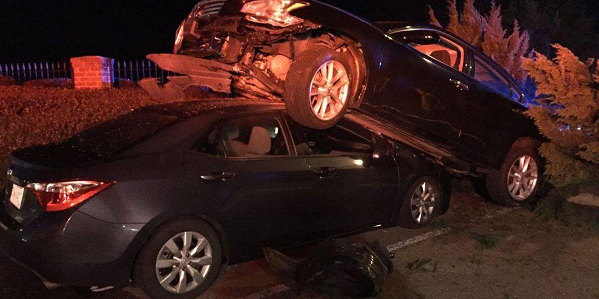 Driver lands on top of car after seizure