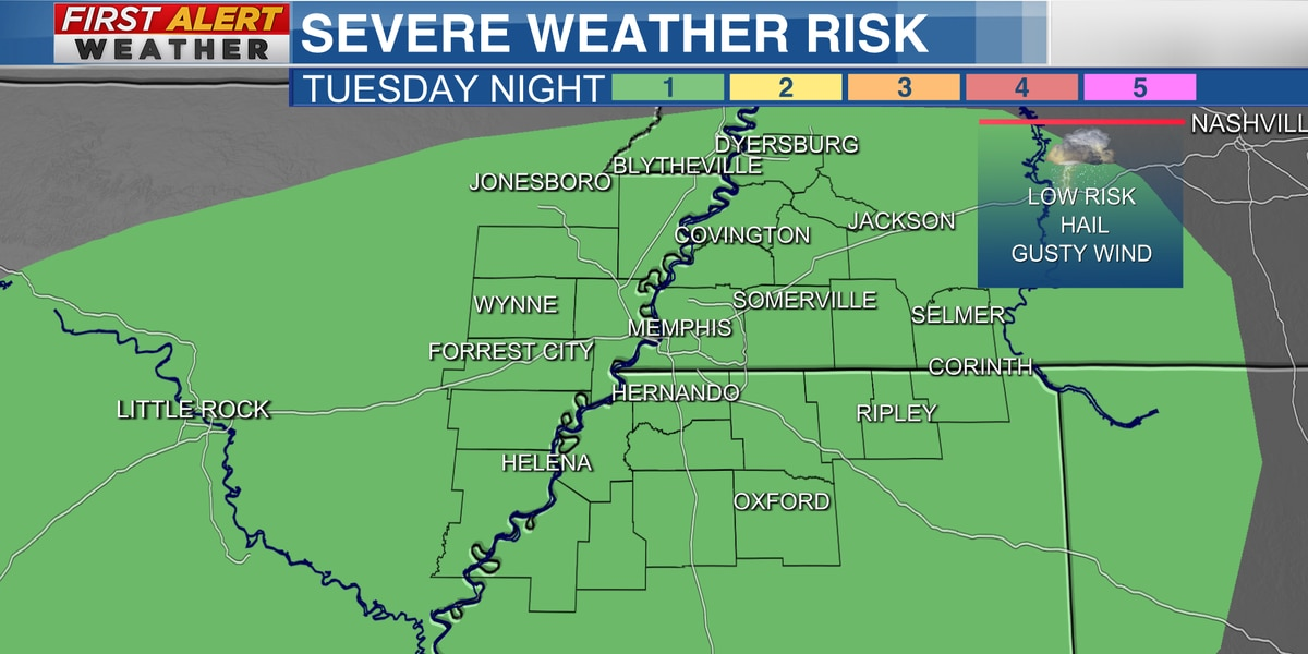 A few strong storms possible tonight