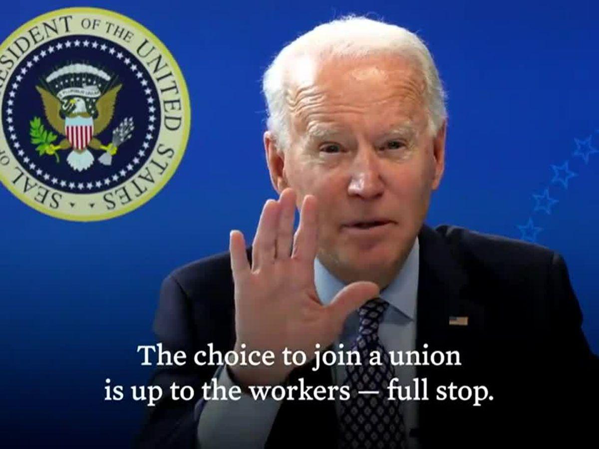 Amid Amazon union vote, Biden endorses workers' freedom to choose