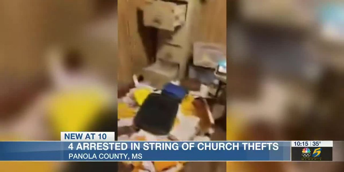 4 suspects in custody in connection with string of Panola County church burglaries, 4 more sought