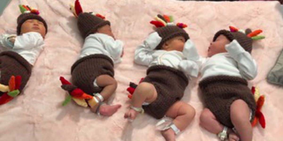 Babies transform into the cutest little turkeys in the nursery at St. Francis Hospital