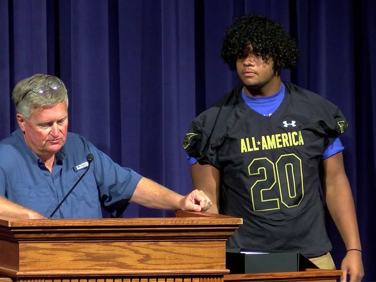 MUS star presented with jersey for All-America Game