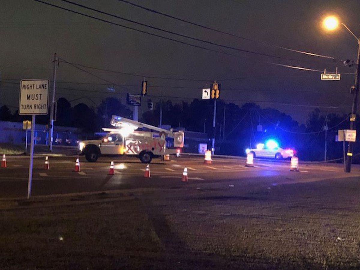 Police shut down traffic at Tchulahoma, Shelby Dr.