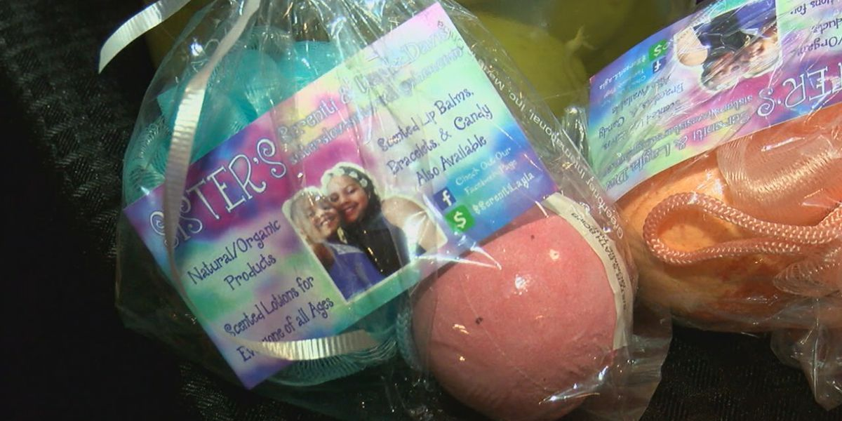 Two sisters use homemade, natural products to give back to their community