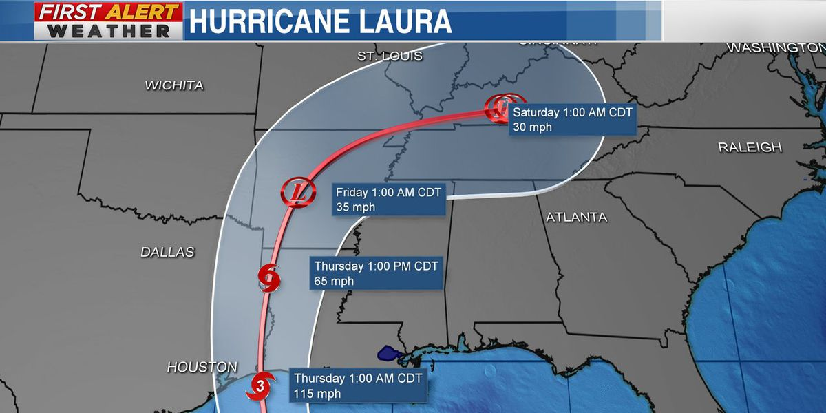 Hurricane Laura could bring heavy rain to Mid-South