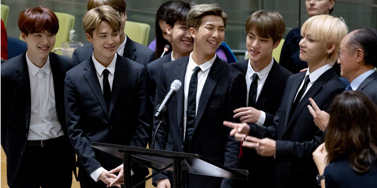 Kim Namjoon, K-pop band BTS speak at UN youth event