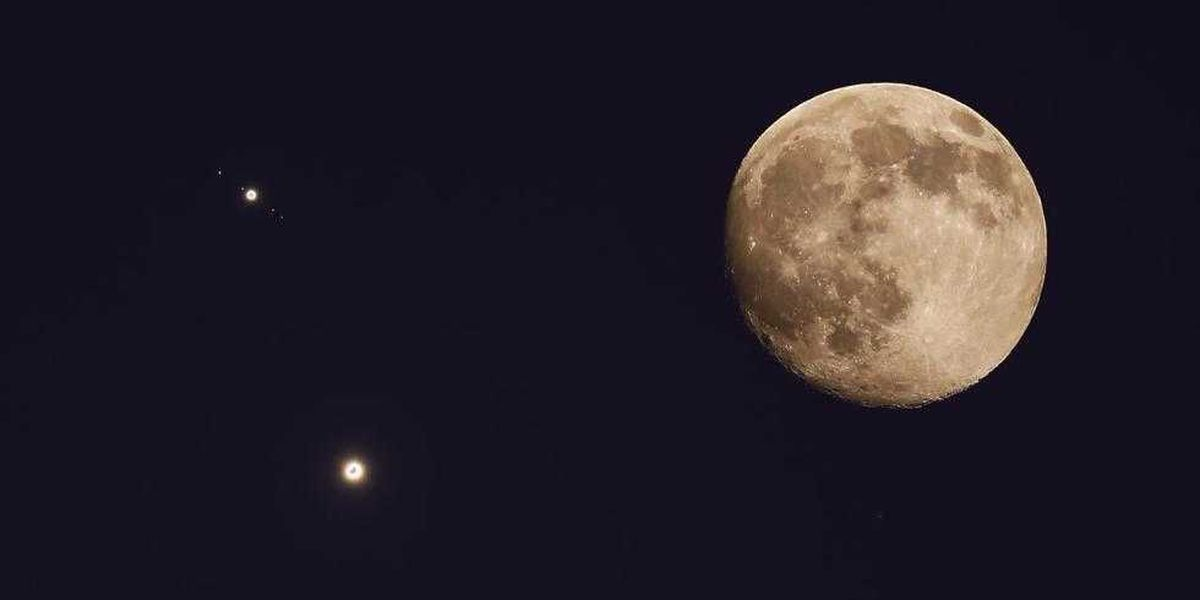 Venus and Jupiter will meet in the sky Monday morning